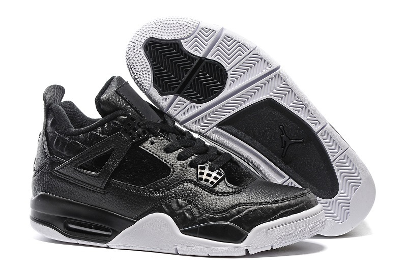 "Air Jordan 4 ""Premium"" 819319 010 Shoes Black/Sail"
